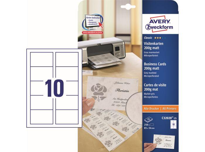 Papier Arkusze Na Wizytówki 85x54 Mm Z Mikroperforacją