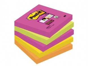karteczki samoprzylepne 3M Post-it 654S-N SuperSticky 76x76 mm, 5x90 kartek