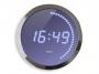 001080 - zegar ścienny Cep LED 30cm niebiesko-srebrny