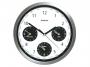 00704004 - zegar ścienny Atrix Strefy Czasowe, stalowy