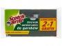 093185 - gąbka uniwersalna zmywak kuchenny 3M Brite do trudnych zabrudzeń żółta 3 szt./op.