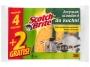 093186 - gąbka uniwersalna zmywak kuchenny 3M Scotch Brite żółta 6 szt./op.Towar dostępny do wyczerpania zapasów u producenta!