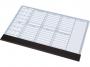 1152202 - podkładka na biurko 470x330 mm Panta Plast kalendarz tygodniowy na biurko, planer, terminarz, wkład papierowy z listwą ochronną, 30 kartek