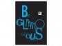 24633p - zeszyt A5 w kratkę Interdruk Black and Blue 96 kartek, brulion okładka półtwarda 5 szt./op.