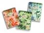 28155 - kołonotatnik A5 w kratkę Pigna  Nature Flowers 60 kartek, oprawa miękka 3 szt./op.
