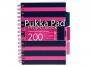 281810 - kołonotatnik A5 w kratkę Pukka Pad Project Book Navy 100 kartek, 3 szt./op.