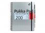 281820 - kołonotatnik A4 w kratkę Pukka Pad Project Book Metal 100 kartek, 3 szt./op.