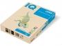 3233150 - papier do drukarek i kopiarek kolorowy A4 160g IQ BE66, pastelowy waniliowy, kserograficzny, 250 ark./op.
