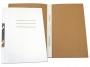 4101841 - skoroszyt kartonowy hakowy pełny, A4 Warta biały