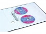 41305200 - koszulka na płyty na 4 CD/ DVD A4 Donau PP, z miejscem na opis, 25 szt./op.