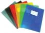 415852__ - teczka z gumką A4 plastikowa Donau PP z kieszenią i etykietą, półtransparentna