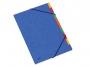41630610 - teczka segregująca A4 z 9 przekładkami Donau kartonowa, z gumką, niebieska