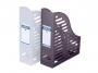 417040a__ - pojemnik na dokumenty, czasopisma Donau składany A4 85 mm PP, przezroczysty