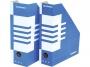 41704110 - pojemnik na dokumenty, czasopisma Donau składany A4 80 mm kartonowy niebieski