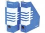 41704210 - pojemnik na dokumenty, czasopisma Donau składany A4 100 mm kartonowy niebieski
