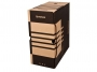 41704840 - pudło archiwizacyjne Donau A4, karton o szer. 155 mm, brązowy