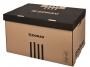 41704850 - pudło archiwizacyjne Donau otwierane z góry, karton o wym. 560x370x315 mm brązowy