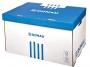 41704851 - pudło archiwizacyjne Donau otwierany z góry, karton o wym. 560x370x315 mm niebieski