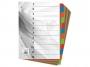 4192449 - przekładki do segregatora A4 kartonowe numeryczne 1-12 Warta karton barwiony, 10 kpl./op.