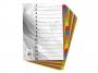 4192450 - przekładki do segregatora A4 kartonowe numeryczne 1-15 Warta karton barwiony, 10 kpl./op.