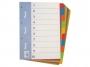 4192452 - przekładki do segregatora A4 kartonowe numeryczne 1-10 Warta karton barwiony, 10 kpl./op.
