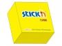 44021010 - karteczki samoprzylepne Stick'n 76x76 mm, kostka żółta neonowa, 400 kartek