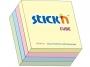 44021013 - karteczki samoprzylepne Stick'n 76x76 mm, kostka mix 4 kolory pastelowe, 400 kartek
