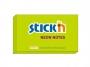 44021171 - karteczki samoprzylepne Stick'n 127x76 mm, neonowy zielony, 100 kartek