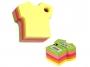 44021400 - karteczki samoprzylepne Stick'n kształt t-shirt, 76x76 mm, mix 5 kolorów, 400 kartek