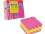 44021536 - karteczki samoprzylepne Stick'n 76x76 mm, pomarańcz, róż, 400 kartek