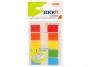 44026071 - zakładki indeksujące samoprzylepne Stick'n 45x21 mm, foliowe, białe z wykończeniem, 5x20 szt.