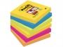 4411695 - karteczki samoprzylepne 3M Post-it 654 76x76 mm, Paleta Rio de Janeiro, 6x90 kartek