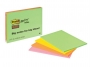 441179 - karteczki samoprzylepne 3M Post-it 6845 149x200 mm, Super Sticky, mix kolorów, 45kartek w bloczku, op. 4 bloczki