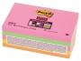 441296 - karteczki samoprzylepne 3M Post-it 655S-N 127x76 mm, Super Sticky neonowy, 5 kolorów x 90 kartek