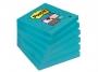 4413314 - karteczki samoprzylepne 3M Post-it 654-6SS-EB 76x76 mm, Super Sticky, 90 kartek, elektryczny błękit