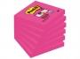 4413329 - karteczki samoprzylepne 3M Post-it 654-6SS-PNK 76x76 mm, Super Sticky, fuksja, 1x90 kartek