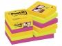 4413342 - karteczki samoprzylepne 3M Post-it 622-12SSRIO-EU 47,6x47,6 mm, SuperStick, paleta Rio de Janeiro, 12x90 kartek