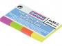 44158156 - zakładki indeksujące samoprzylepne Donau 20x50 mm, 4 kolory, op. 4x50 kartek, neonowe