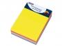 44158211 - karteczki samoprzylepne Donau 101x76 mm, z miejscem na długopis, kostka mix 7 kolorów neonowych, 280 kartek