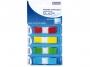 44158504 - zakładki indeksujące samoprzylepne Donau PP w podajniku, 45x12 mm, 4 kolory neonowe op.4x35 szt.