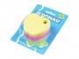 44158901 - karteczki samoprzylepne Donau kształt jabłko z miejscem na długopis, kostka mix 5 kolorów neonowych, 400 kartek