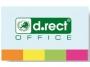 44185015 - zakładki indeksujące samoprzylepne D.rect papierowe, 20x50 mm, 4 kolory neonowe w tekturowym podajniku, 4x50 szt., 009346