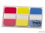 441880 - zakładki indeksujące samoprzylepne 3M Post-it 686-RYB do archiwizacji silne 25x38 mm 3 kolory x 22 szt.