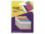 441883 - zakładki indeksujące samoprzylepne 3M Post-it 686-F1 do archiwizacji proste 50,8x38 mm 4 kolory x6 szt.