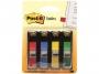 441901 - zakładki indeksujące samoprzylepne 3M Post-it 683-4 wąskie, 4 kolory, 4x35 szt.