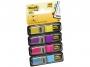 441940 - zakładki indeksujące samoprzylepne 3M Post-it 683-4AB neon wąskie 4 kolory, 12x43 mm, 4x35 szt.