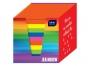 442253 - karteczki kolorowe kostka nieklejona w pudełku kartonowym Interdruk kolory intensywne 90x90x90 mm