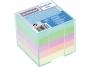 4422602 - karteczki kolorowe kostka nieklejona w pudełku plastikowym Donau 8,3x8,3x7,5 cm