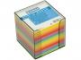 4422606 - karteczki kolorowe kostka nieklejona w pudełku plastikowym Donau 89x89x89 mm, 7 kolorów neonowych