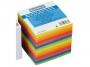 4422610 - karteczki kolorowe kostka klejona Donau 90x90x90 mm 7 kolorów neonowych